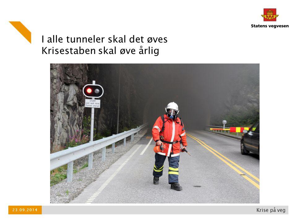 Krise på veg 23.09.2014 I alle tunneler skal det øves Krisestaben skal øve årlig