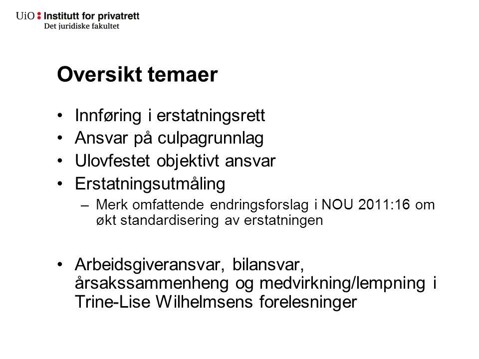 Arbeidsgiveransvar – tilknytning til arbeidet 2 Sammenhengen med arbeidsoppgavene –Rt.