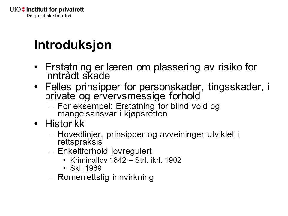 Særlige erstatningsformer I Ménerstatning –Skl.§ 3-2, Rt.
