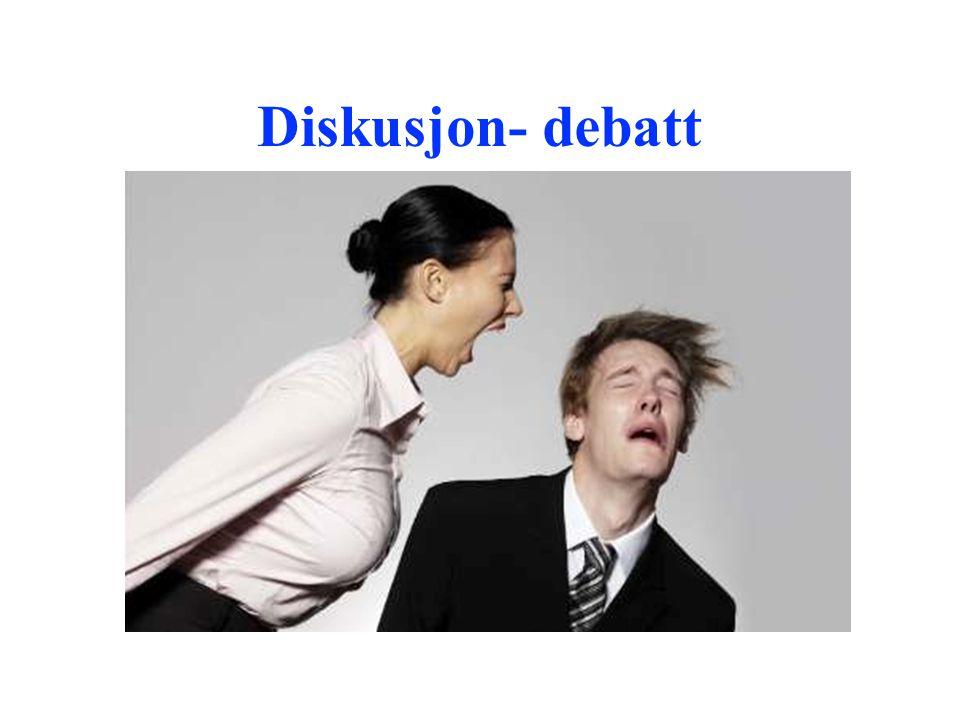Diskusjon- debatt