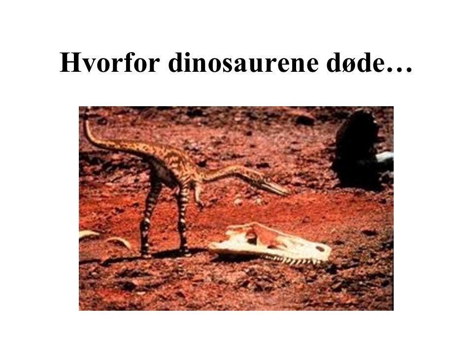 Hvorfor dinosaurene døde…