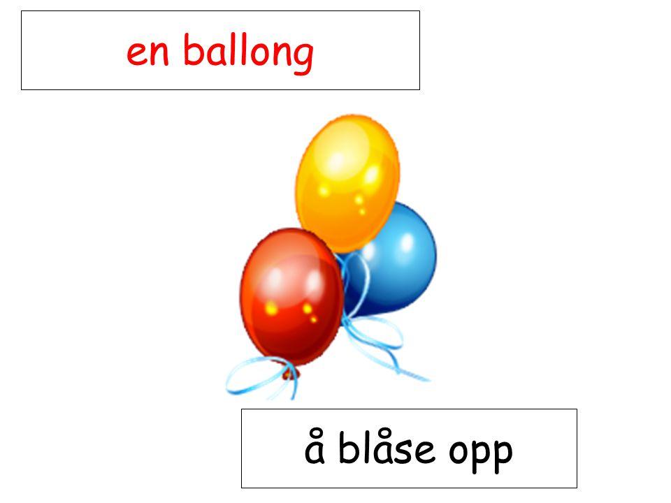 en ballong å blåse opp