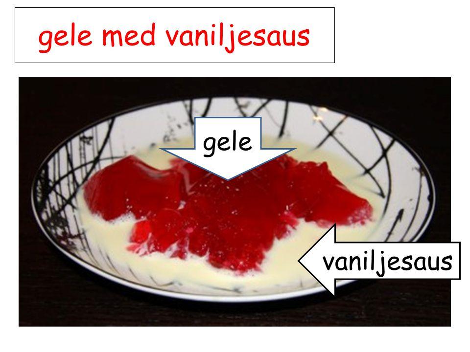 gele med vaniljesaus vaniljesaus gele