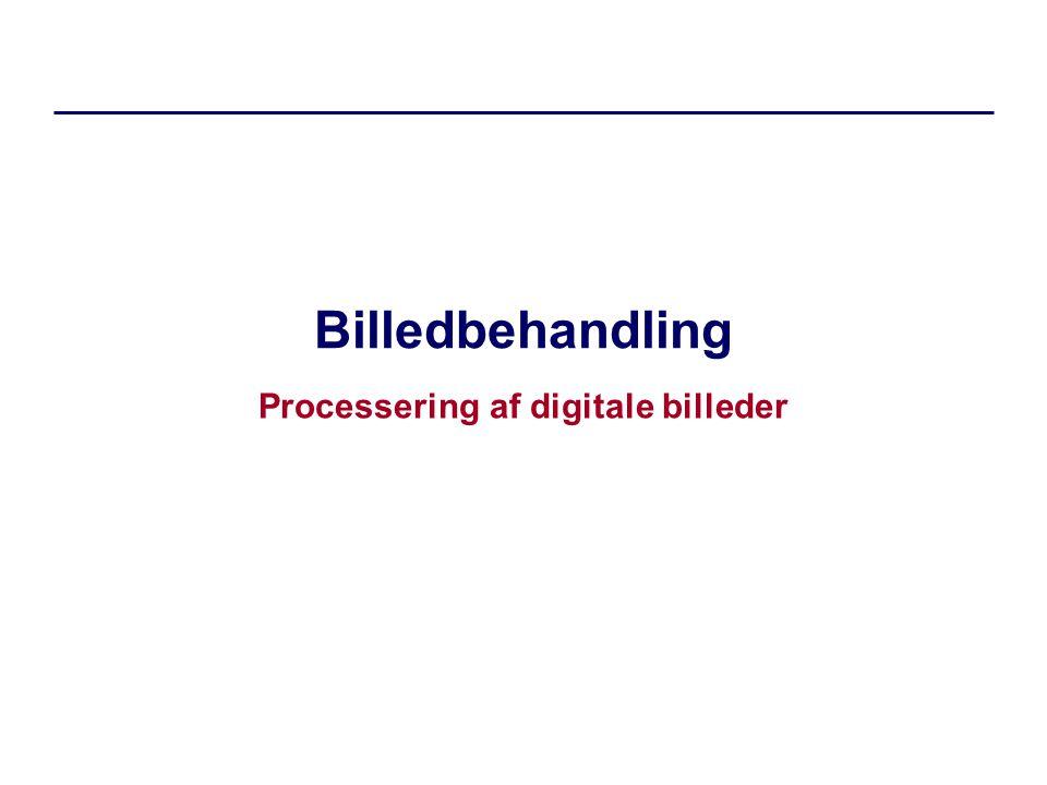 Billedbehandling Processering af digitale billeder