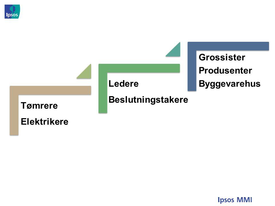Tømrere Elektrikere Ledere Beslutningstakere Grossister Produsenter Byggevarehus