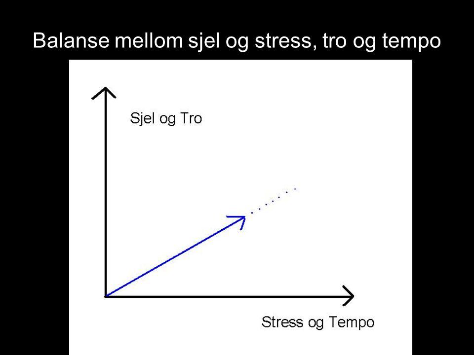 Balanse mellom sjel og stress, tro og tempo