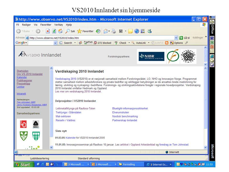 22 VS2010 Innlandet sin hjemmeside