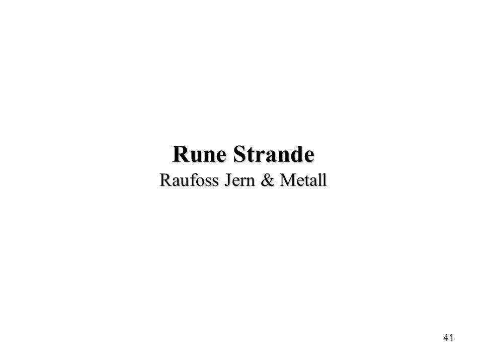 41 Rune Strande Raufoss Jern & Metall