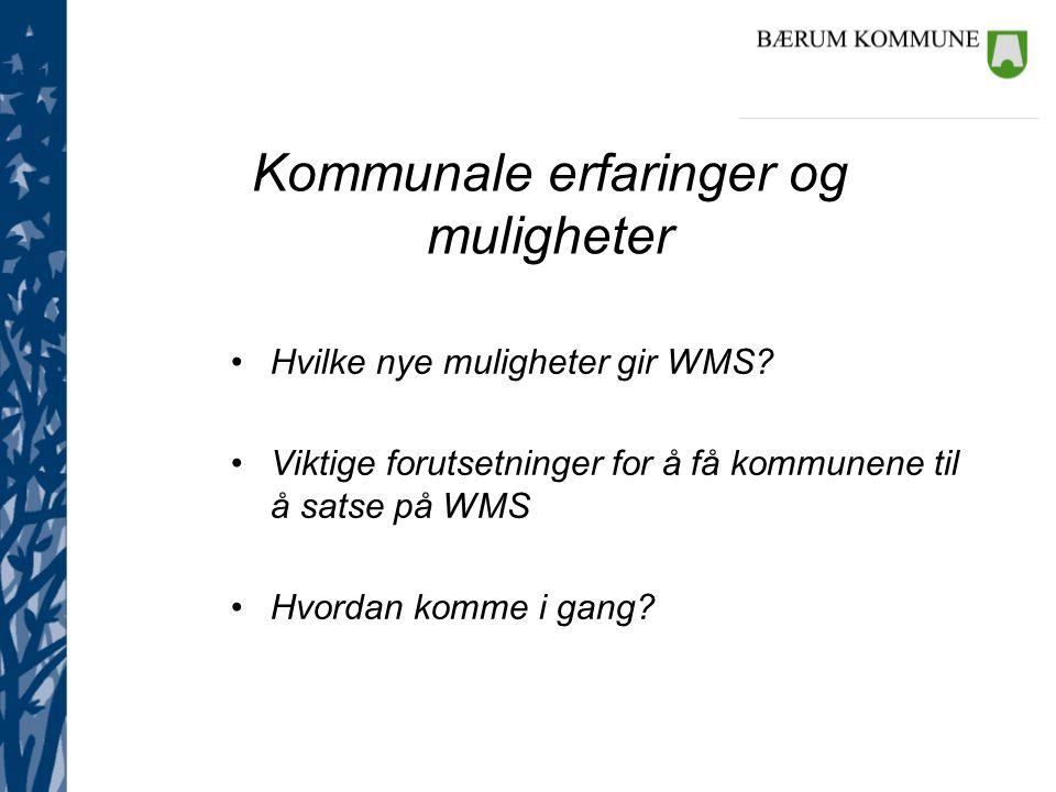 Hva er det grunnleggende nye ved WMS.