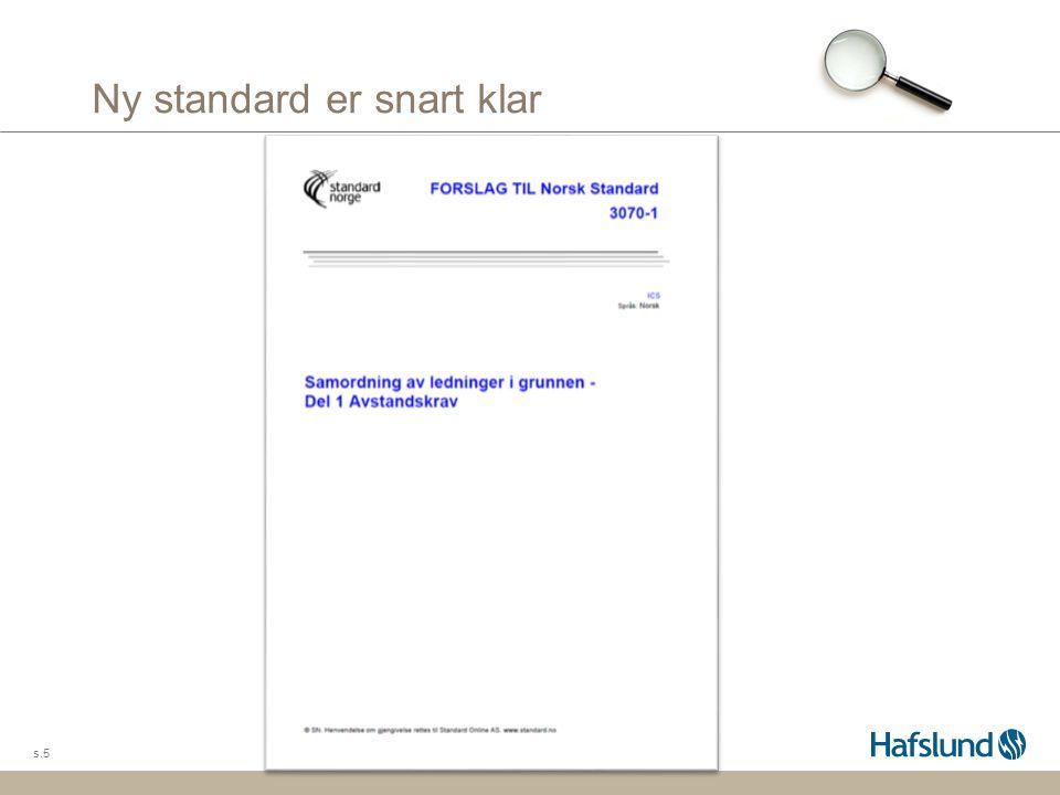 Standarden omhandler krav om avstander s.6