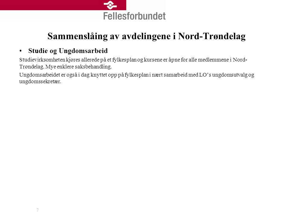 Sammenslåing av avdelingene i Nord-Trøndelag Studie og Ungdomsarbeid Studievirksomheten kjøres allerede på et fylkesplan og kursene er åpne for alle m