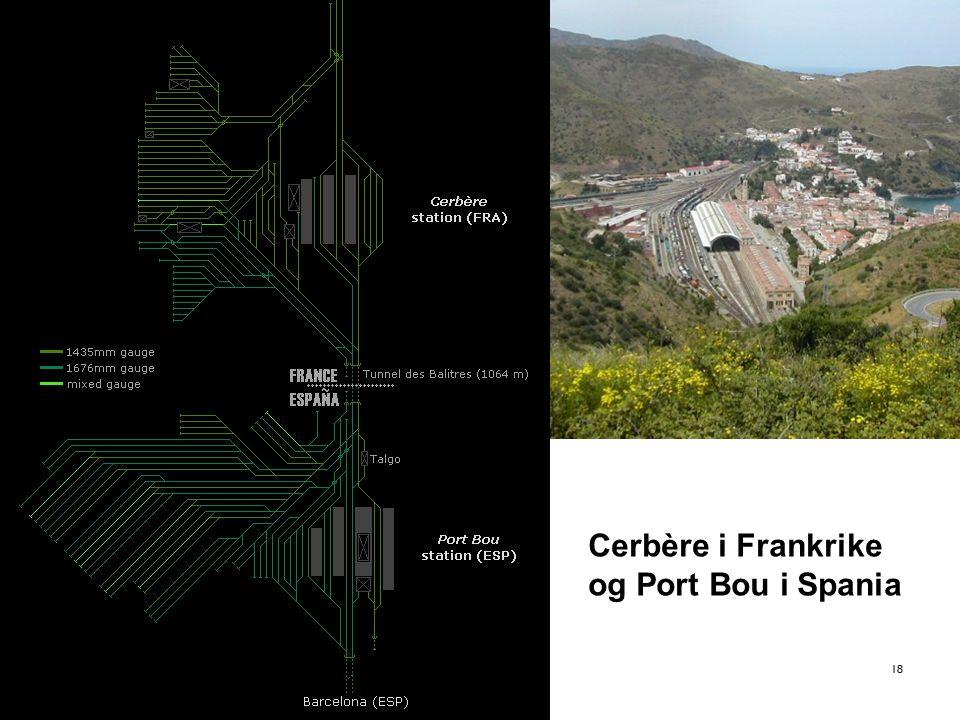 18 Cerbère i Frankrike og Port Bou i Spania