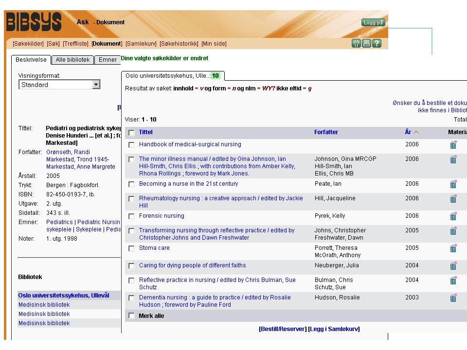 Medisinsk bibliotek Din guide i informasjonsjungelen