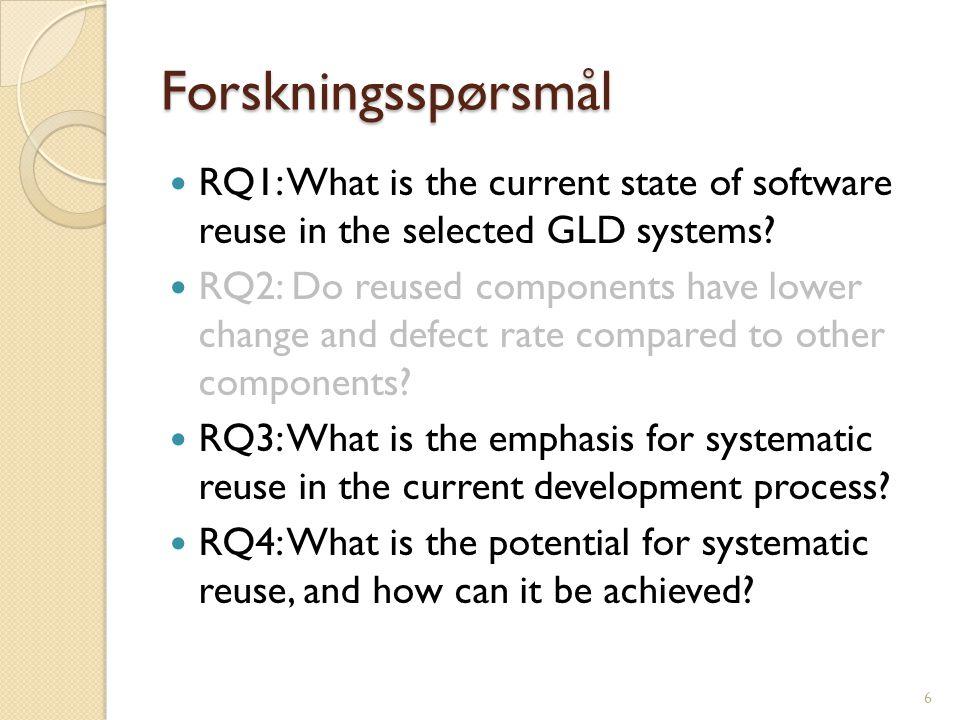 Undersøkelse av nåværende gjenbruksnivå i GLD-systemene (T2) 3.