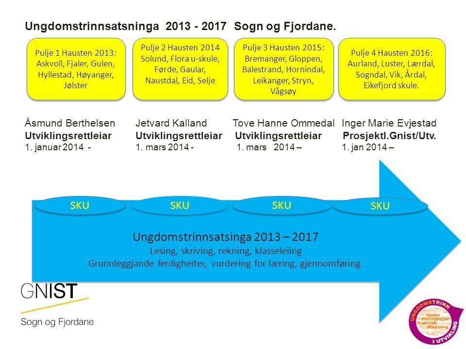 Ungdomstrinnsatsninga 2013 - 2017 Sogn og Fjordane.
