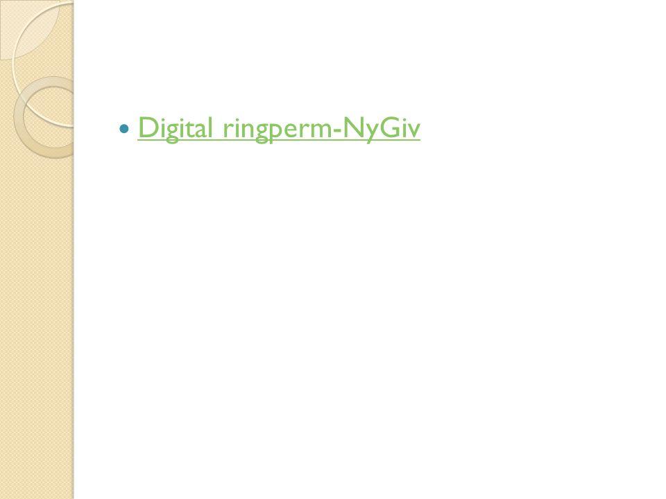 Digital ringperm-NyGiv