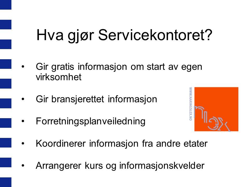 Hva gjør Servicekontoret.