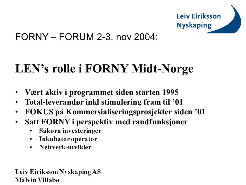 FORNY – FORUM 2-3.