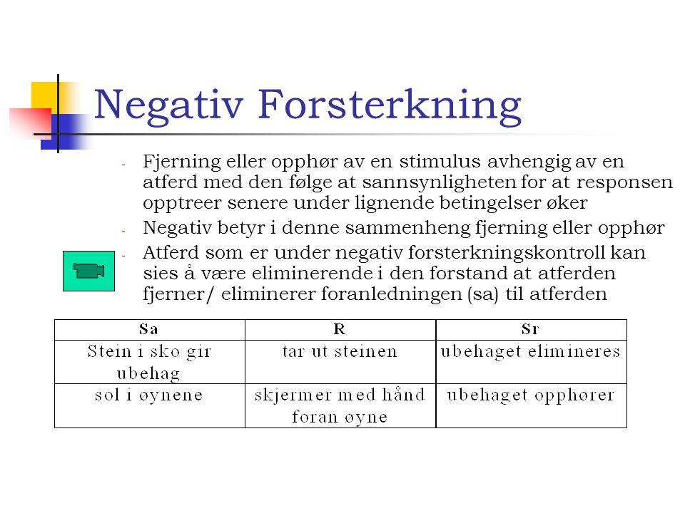 Produsere/oppnå Eksempler på levering av forsterker Imitasjon Farge Instruksfølging Samarbeid Feilforsterkning