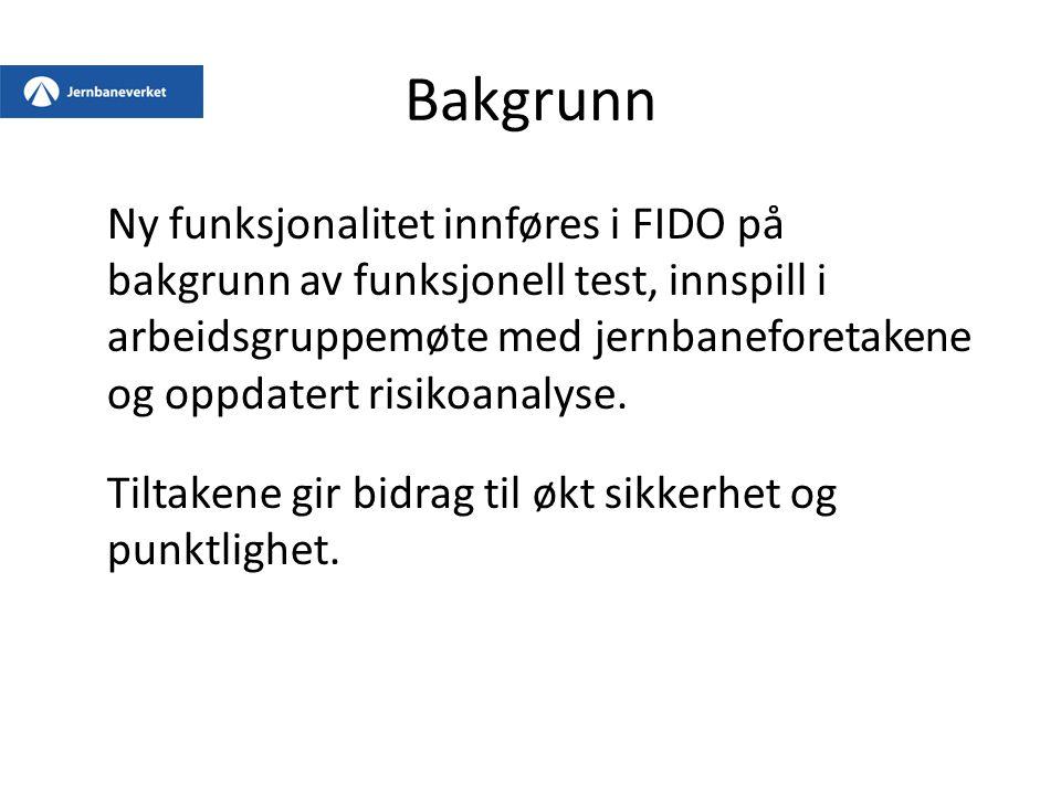 6.1 Internasjonale ruter og togets utgangsdato På internasjonale ruter endrer FIDO på det noen er vant til når det gjelder utgangsdato og -stasjon i Norge.