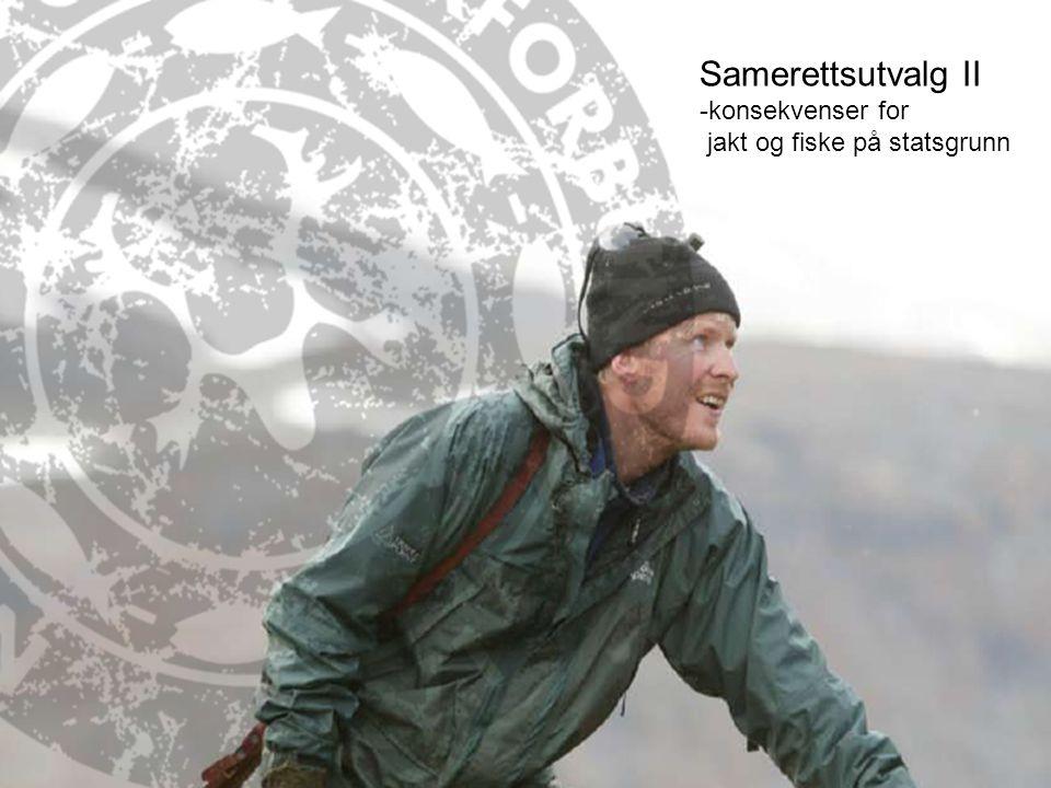Samerettsutvalg II (SRU II) SRU II ble opprettet i 2001 –Bredt sammensatt – FRIFO var representert Utdrag fra punkter i mandatet –Kartlegge og identifisere samiske bruks- og eierrettigheter –Forvaltningsordninger for Nordland og Troms med lokal forankring Vurdere innføring av fjelloven i Nordland og Troms Vurdere om forslag til løsninger kan gjennomføres ved tillempinger i eksisterende forvaltningsordninger –Ivareta samiske interesser og samtidig fremme forslag om forvaltningsordninger som også ivaretar hensynet til andre samfunnsinteresser