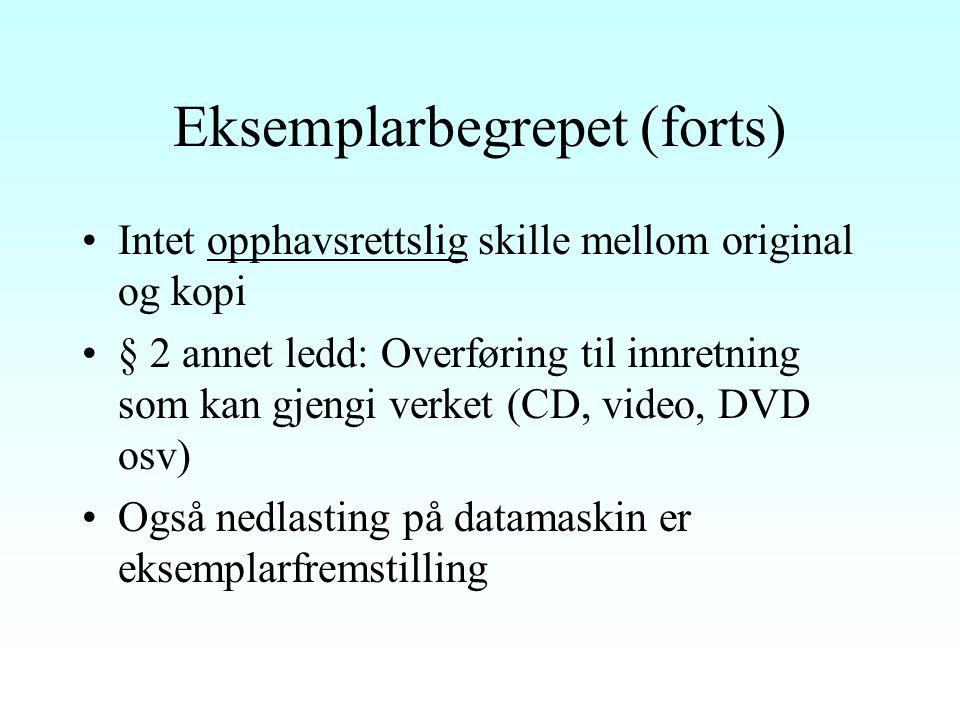 Eksemplarbegrepet - definisjon SOU 1956:25 s.