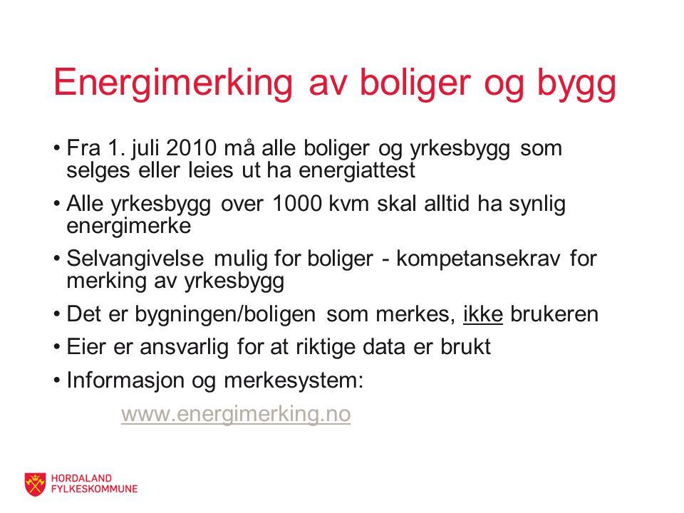 Energimerking av boliger og bygg Fra 1.