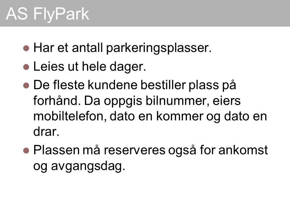 AS FlyPark Har et antall parkeringsplasser. Leies ut hele dager.