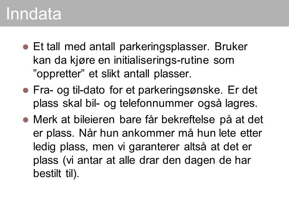 Diskuter Hva om hver bileierer skulle få tilordnet en identifisert plass (f.eks.