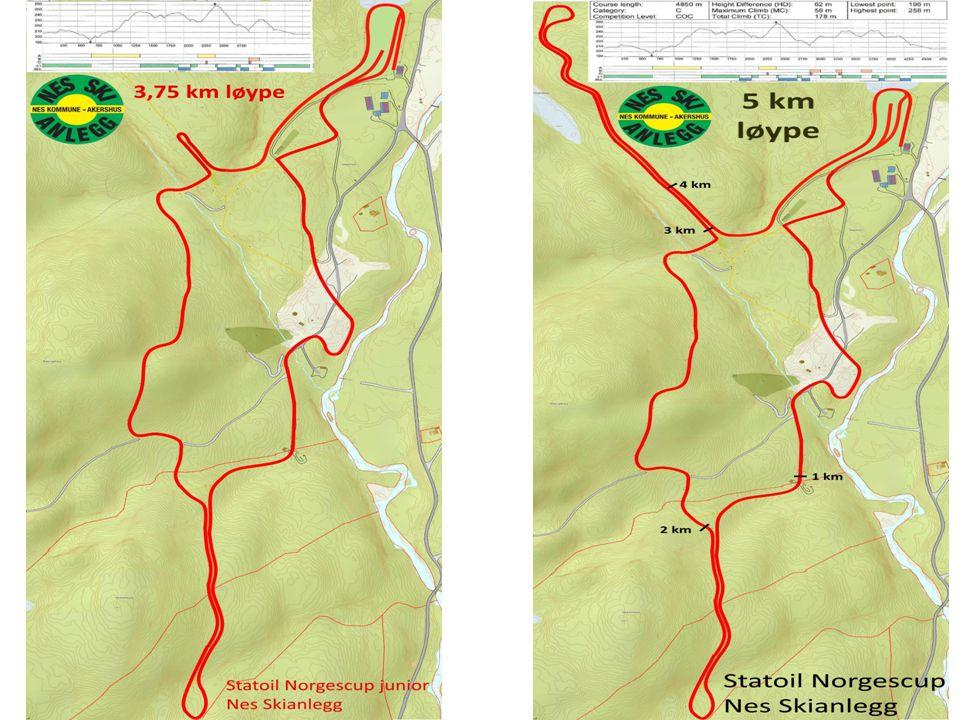 Trening i Nes Skianlegg Fredag kl. 15:00-19:00 Lørdag kl. 16:05-19:00