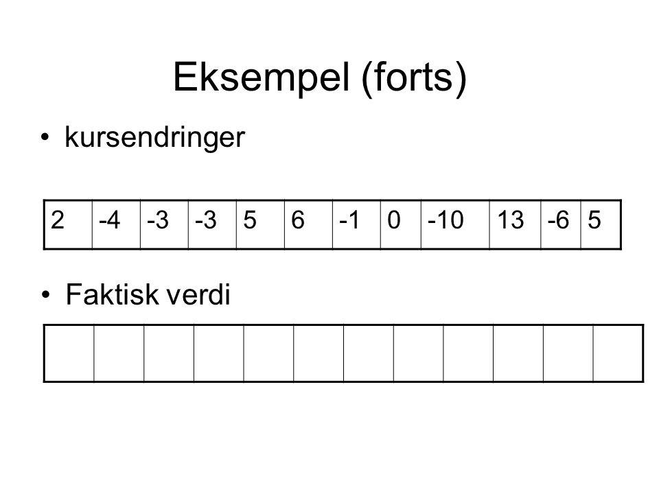 2-4-3 560-1013-65 Eksempel (forts) kursendringer Faktisk verdi
