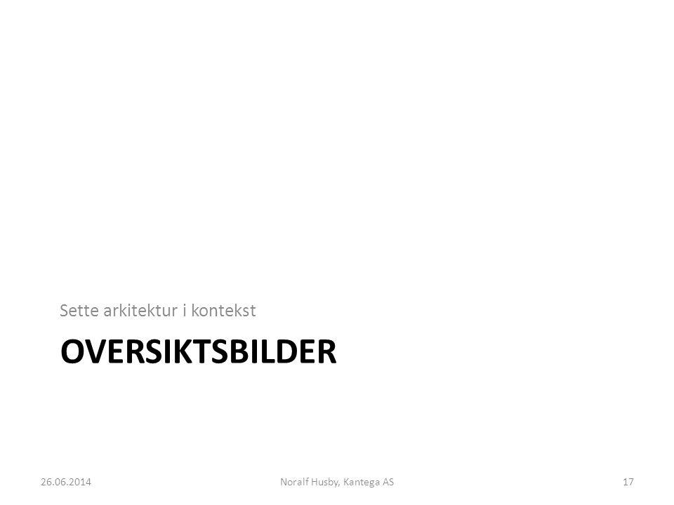 OVERSIKTSBILDER Sette arkitektur i kontekst 26.06.2014Noralf Husby, Kantega AS17