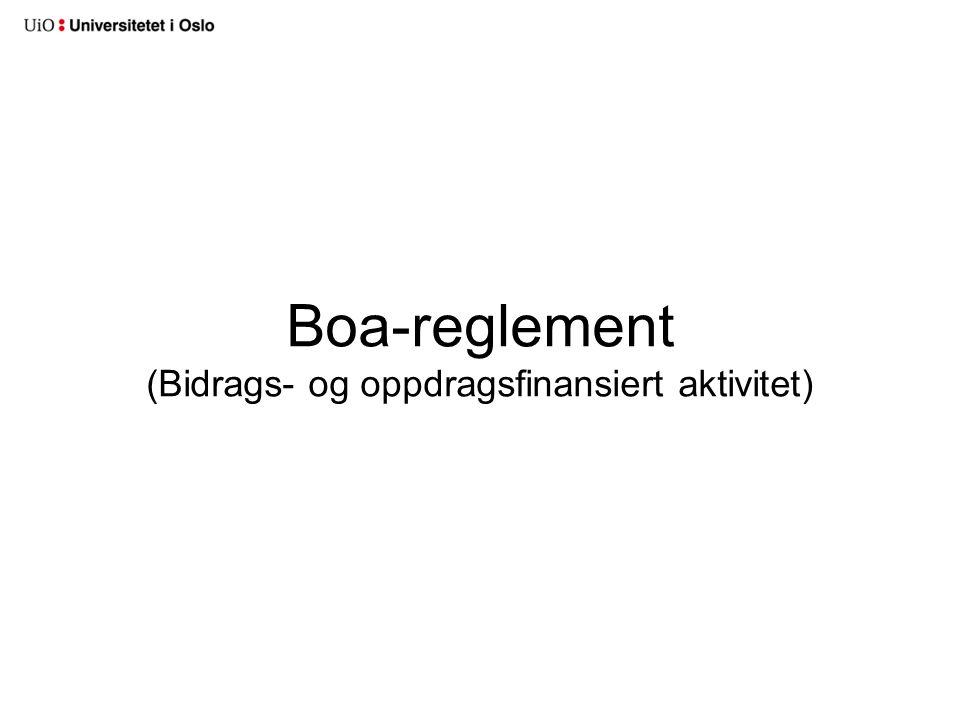Boa-reglement (Bidrags- og oppdragsfinansiert aktivitet)