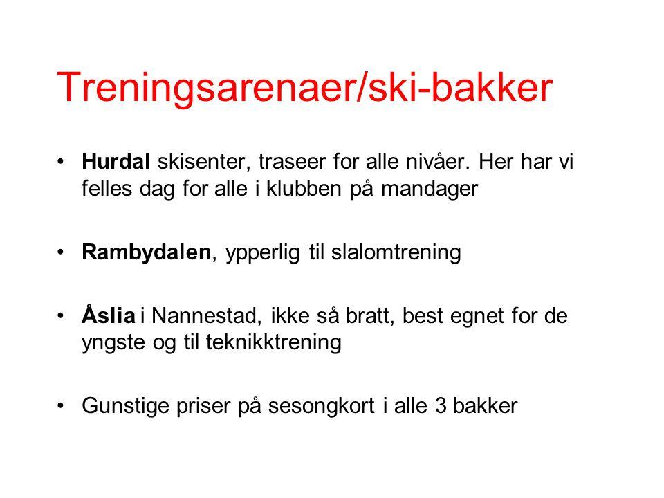 Treningsarenaer/ski-bakker Hurdal skisenter, traseer for alle nivåer.