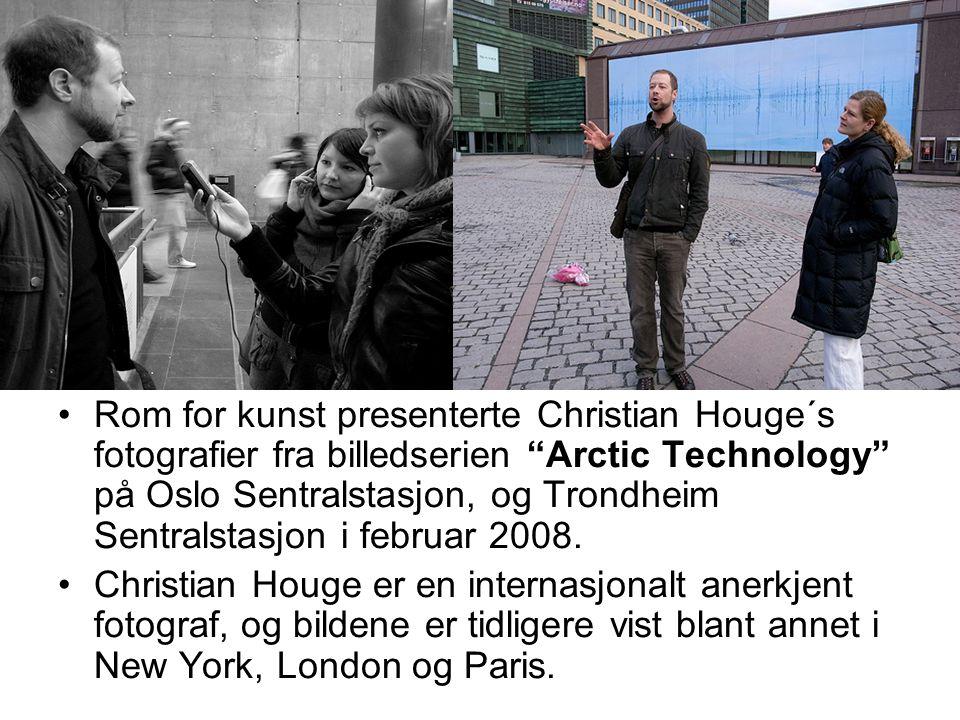 """Rom for kunst presenterte Christian Houge´s fotografier fra billedserien """"Arctic Technology"""" på Oslo Sentralstasjon, og Trondheim Sentralstasjon i feb"""
