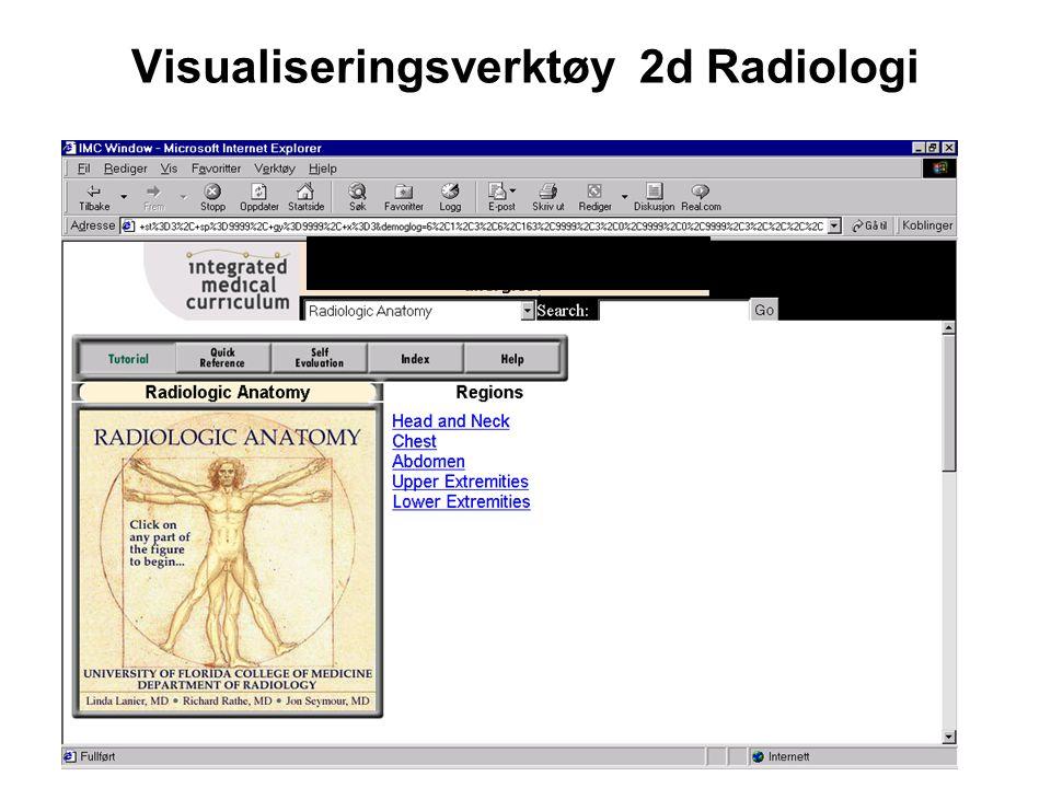 Visualiseringsverktøy 2d Radiologi