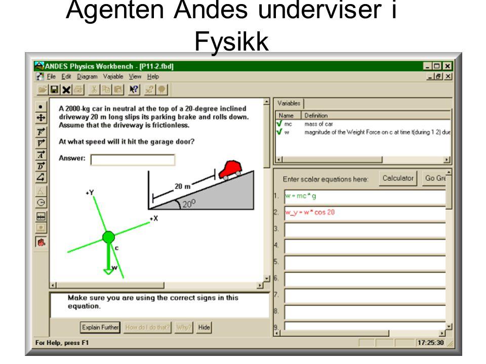 Agenten Andes underviser i Fysikk