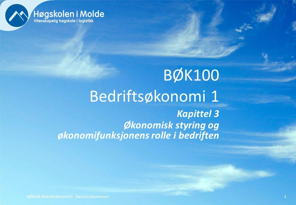 BØK100 Bedriftsøkonomi 1 - Rasmus Rasmussen32 Den eksterne revisjonen er lovpålagt for alle regnskapspliktige og næringsvirksomheter over kr 5 mill.