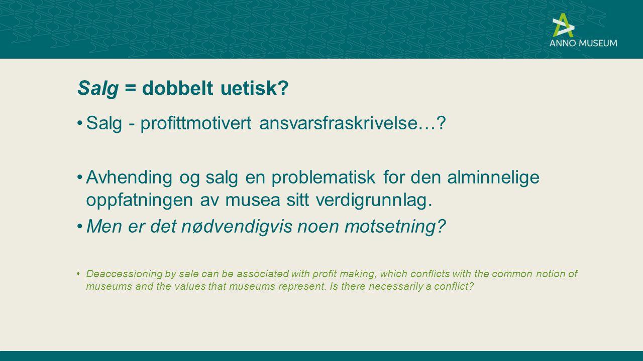 Salg = dobbelt uetisk.Salg - profittmotivert ansvarsfraskrivelse….