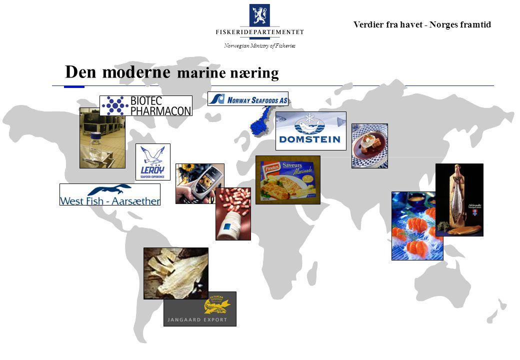 Norwegian Ministry of Fisheries Verdier fra havet - Norges framtid Den moderne marine næring