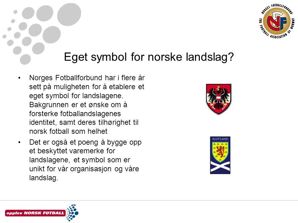 Ikke både òg Internasjonale regler tillater kun et emblem/symbol på drakten Skal vi etablere et eget emblem for landslaget, må flagget erstattes