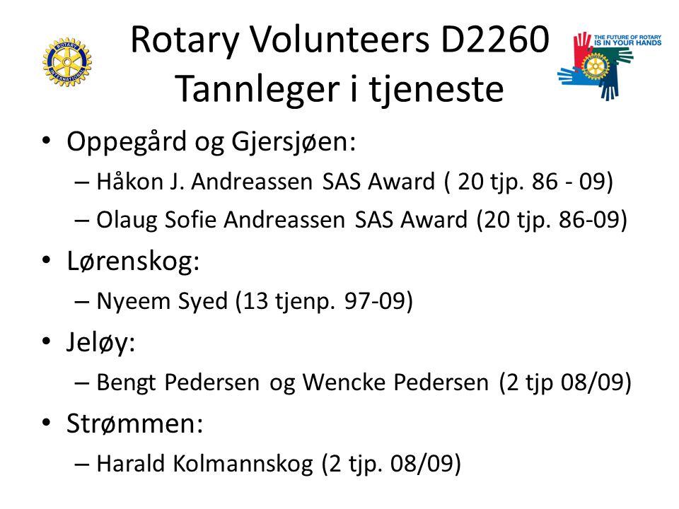 Rotary Volunteers D2260 Tannleger i tjeneste Oppegård og Gjersjøen: – Håkon J.