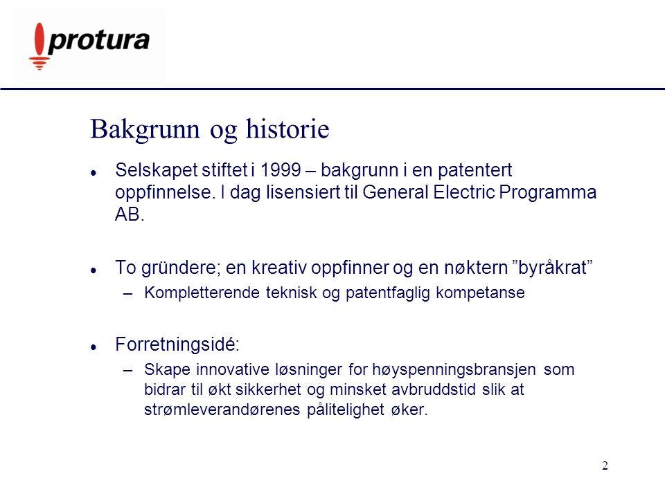 2 Bakgrunn og historie Selskapet stiftet i 1999 – bakgrunn i en patentert oppfinnelse.