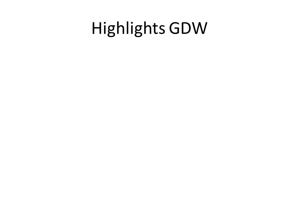 Highlights GDW