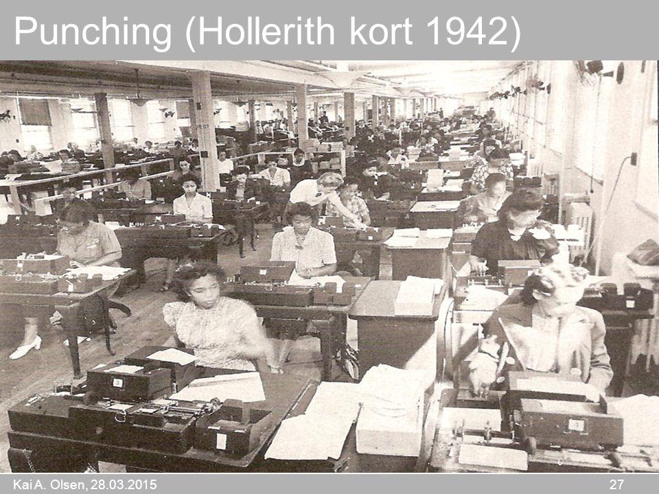 Kai A. Olsen, 28.03.2015 27 Punching (Hollerith kort 1942)