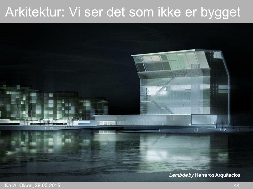 Kai A. Olsen, 28.03.2015 44 Arkitektur: Vi ser det som ikke er bygget Lambda by Herreros Arquitectos