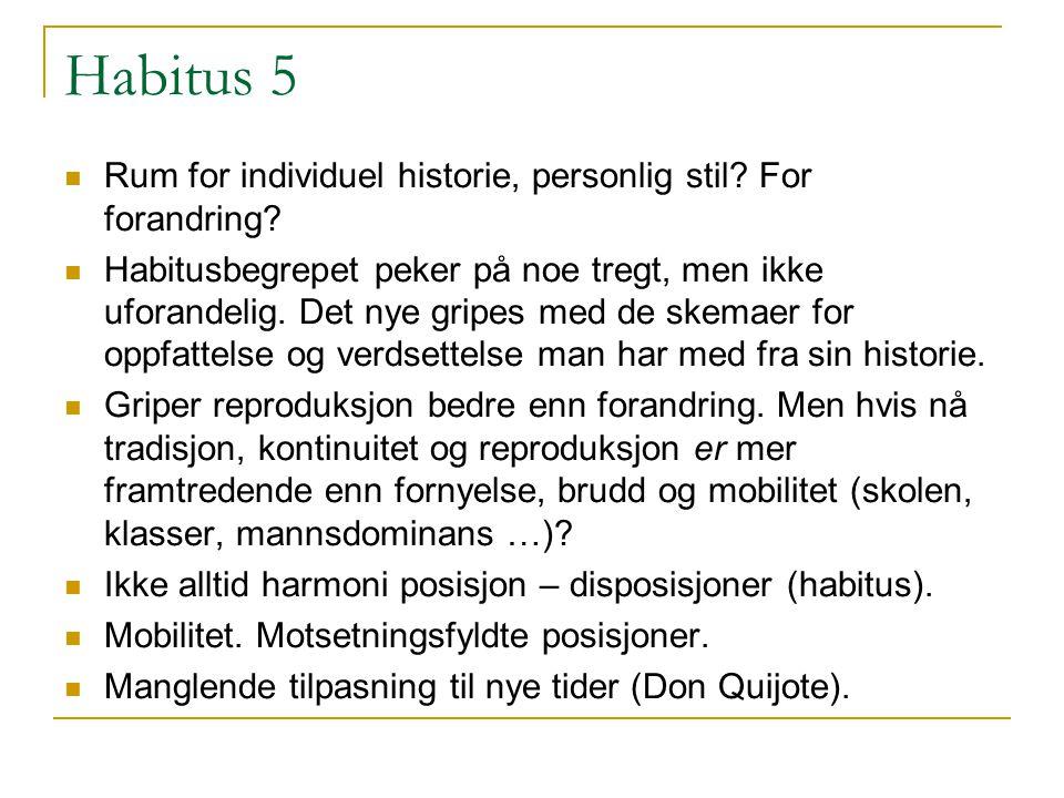 Habitus 5 Rum for individuel historie, personlig stil.