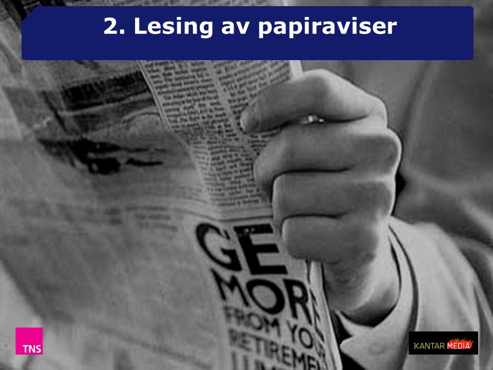 2. Lesing av papiraviser
