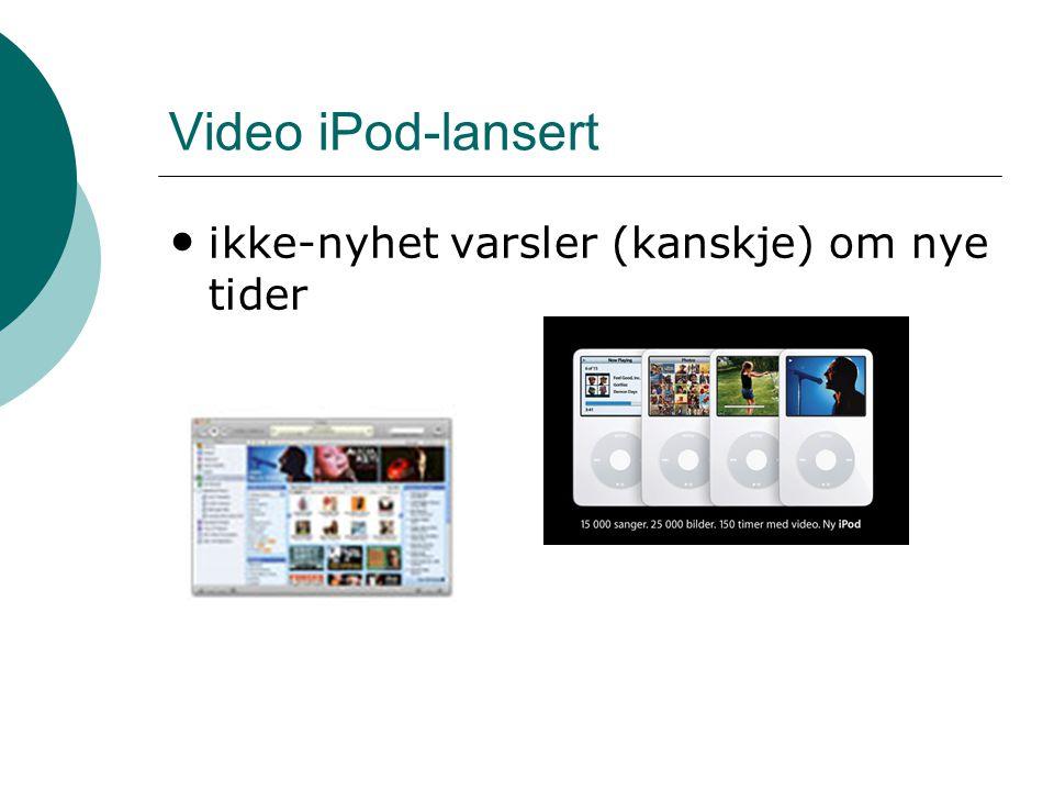Video iPod-lansert ikke-nyhet varsler (kanskje) om nye tider