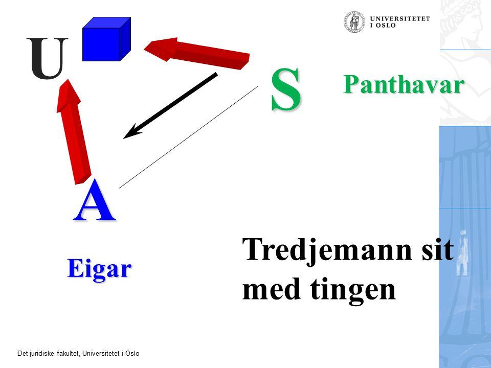 Det juridiske fakultet, Universitetet i Oslo A S Eigar Panthavar U Tredjemann sit med tingen